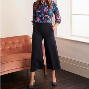 Boden Hampshire Ponte Culottes wide leg crooped